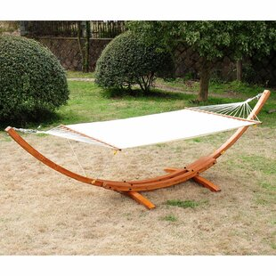 Gadson Arc Patio Cotton Chair Hammock with Stand by Brayden Studio