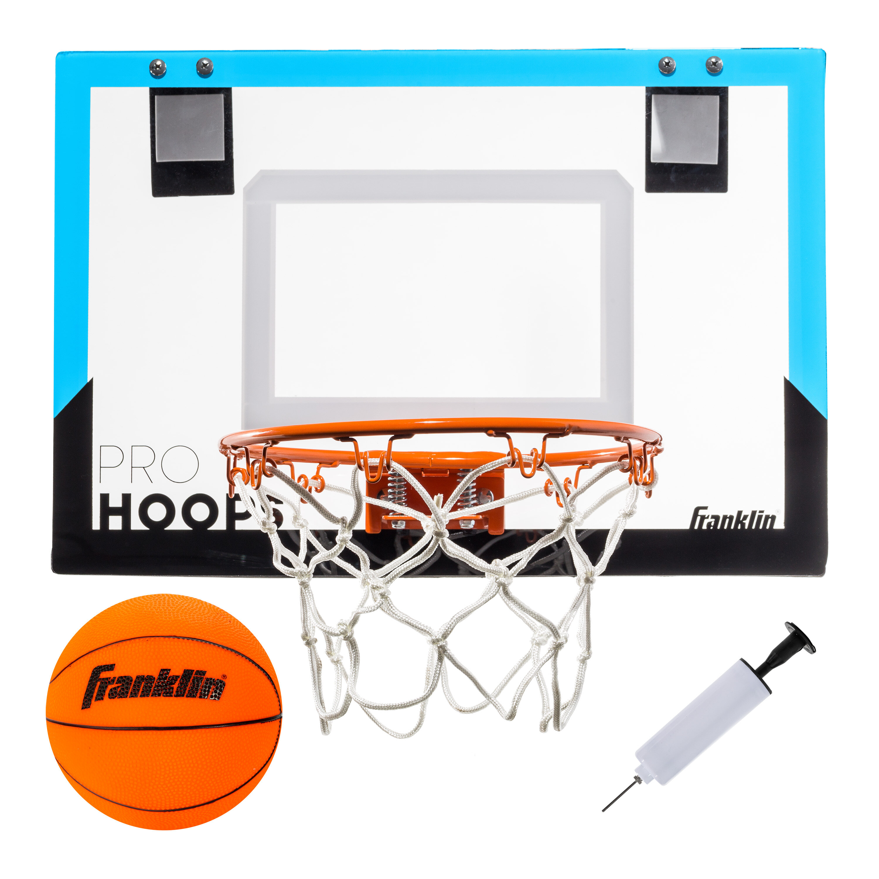Indoor Sports Shooting System with Mini Hoop Kids Arcade Basketball Hoop Shot Game Inflatable Ball and Pump