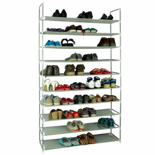 Compare Ultra Large Capacity 10 Layers Non-Woven Fabrics & Steel 20 Pair Shoe Rack By Rebrilliant