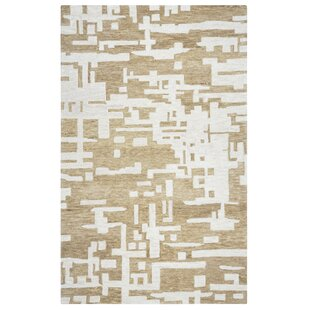 Morpheus Hand-Tufted Brown/Off White Area Rug ByBrayden Studio