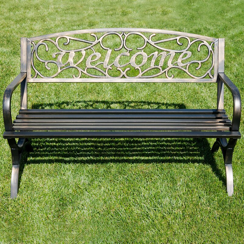 Charming Outdoor Metal Park Bench
