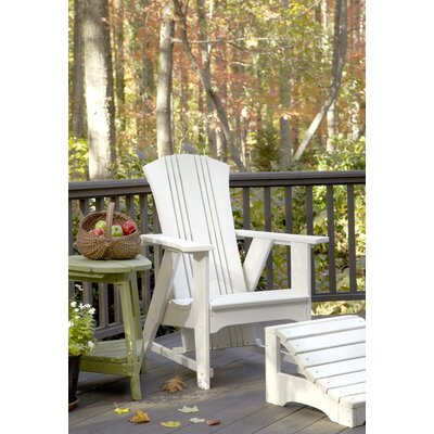 Carolina Preserves Folding Adirondack Chair with Ottoman Uwharrie Chair Color: Tractor Red Wash