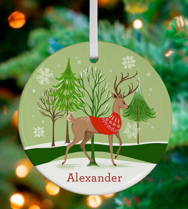 Animated Green Personalized Ornaments You Ll Love In 2021 Wayfair