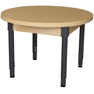 Comparison Round High Pressure Laminate Table (Adjustable Legs) By Wood Designs