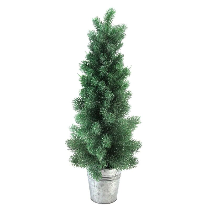 The Holiday Aisle 25 Green Mini Pine Artificial Christmas Tree In