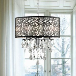 Brownleigh 4-Light Drum Chandelier  sc 1 st  Wayfair : drum chandelier lighting - azcodes.com