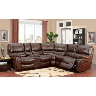 Gracehill Leather Reclining Sectional Three Posts