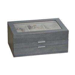 misty glass top wooden jewelry box - Wood Jewelry Box