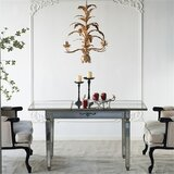 Jantz Violet Mirrored Extendable Dining Table by Mercer41
