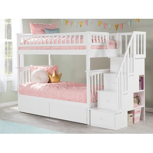 Best Price Abel Staircase Twin Over Twin Bunk Bed with Drawers by Harriet Bee Reviews (2019) & Buyer's Guide