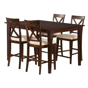 Crestwood 5 Piece Counter Height Dinin..