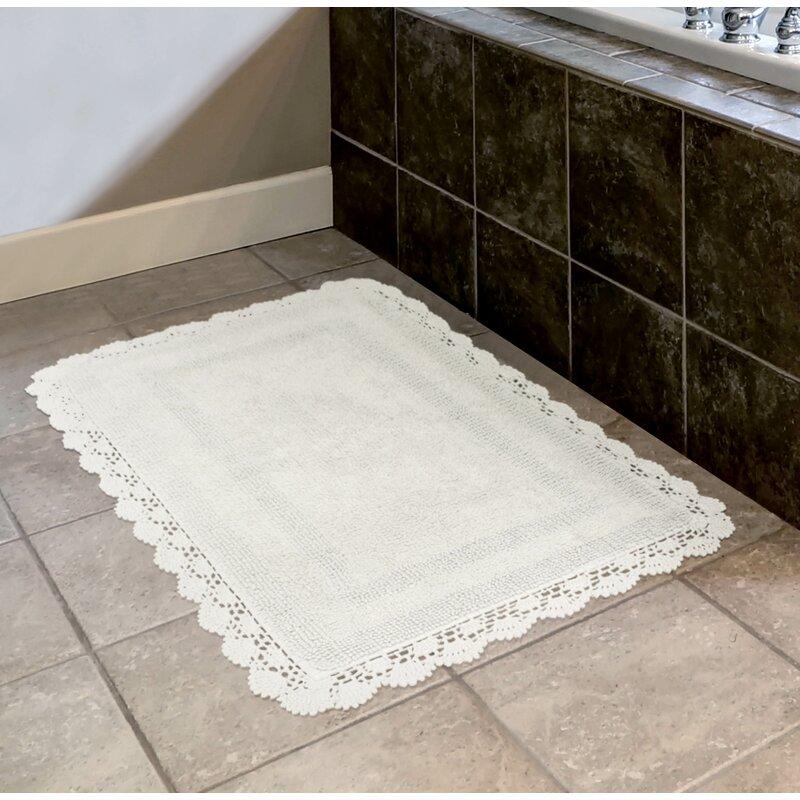 Laura Ashley Crochet Bath Rug Reviews Wayfair