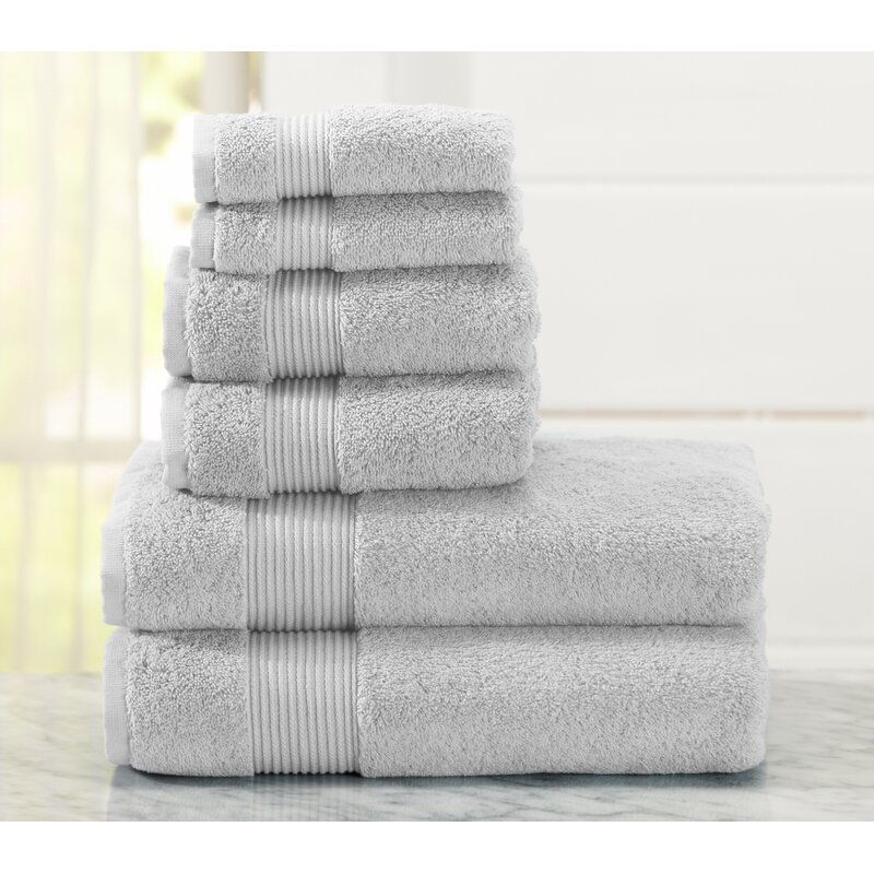 Red Barrel Studio Paper Street 6 Piece Turkish Cotton Towel Set & Reviews | Wayfair