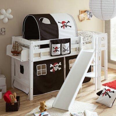 Hochbett Tricia mit Rutsche  90 x 200 cm | Kinderzimmer > Kinderbetten > Hochbetten | Roomie Kidz