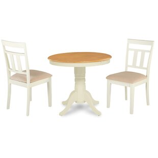 Cedarville Elegant 3 Piece Solid Wood Dining Set