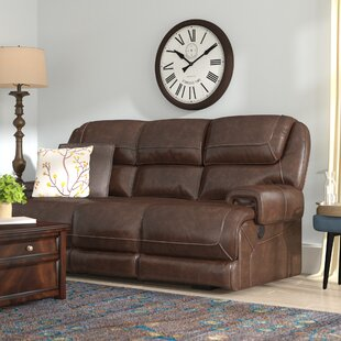 Platteville Leather Reclining Sofa by Red Barrel Studio