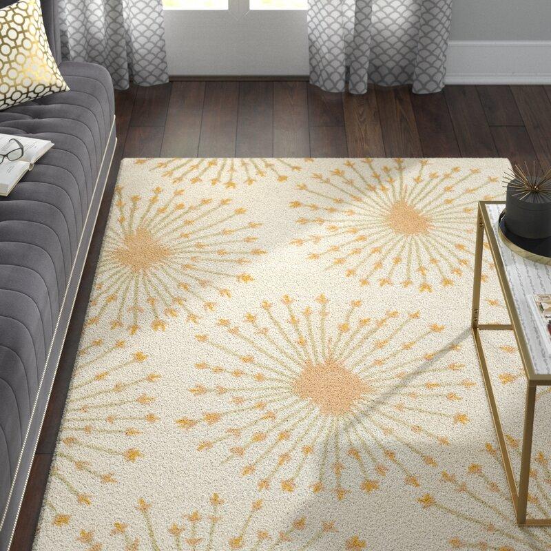 Willa Arlo Interiors Mcguire Hand Tufted Wool Beige Gold Area Rug Reviews Wayfair