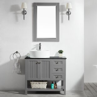 "Comparison Nadel 36"" Single Bathroom Vanity Set with Mirror By Beachcrest Home"