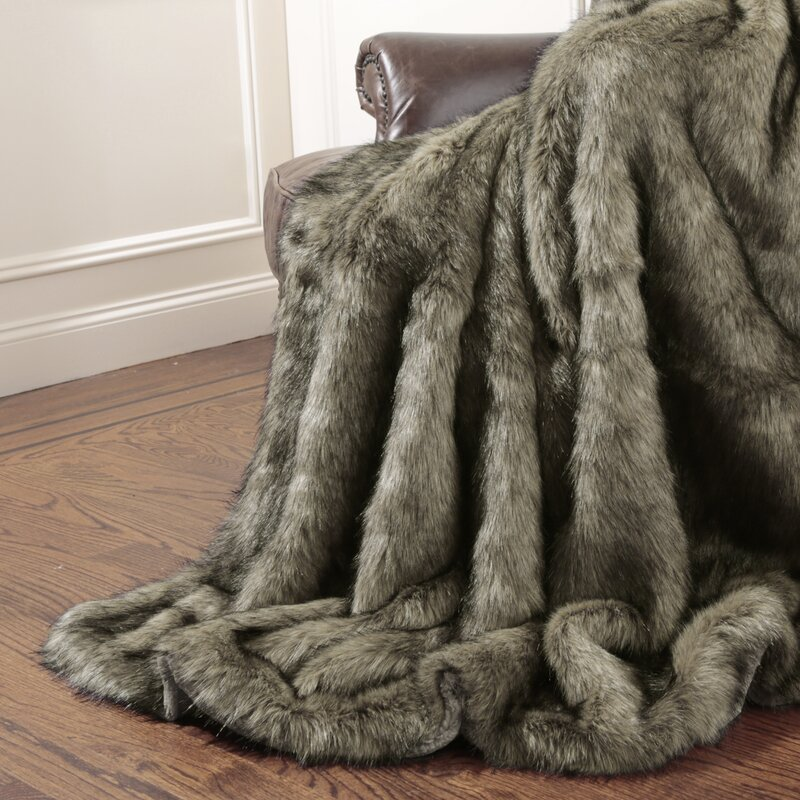 Ordinaire Tawny Fox Faux Fur Throw Blanket