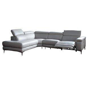 Modern & Contemporary Italian Leather Reclining Sofa | AllModern