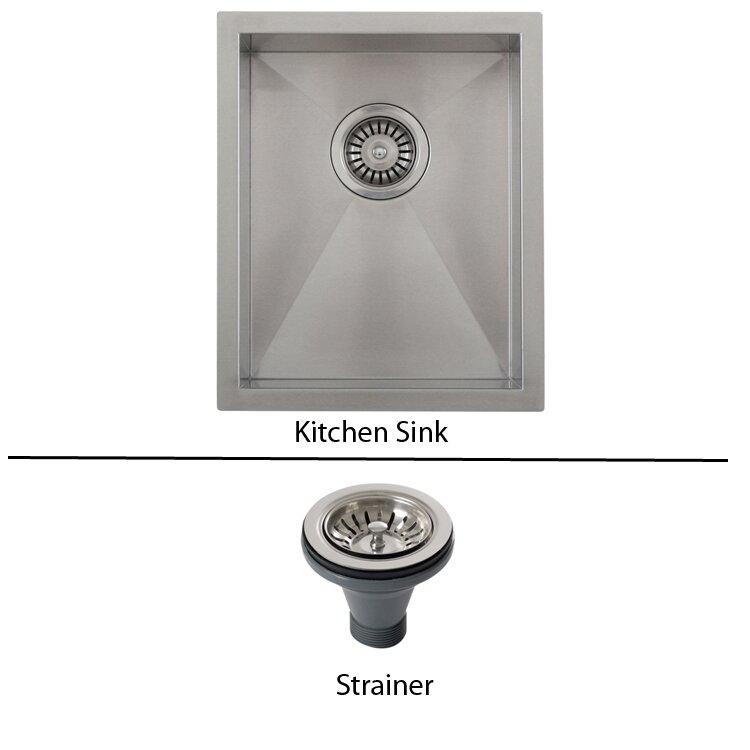 ticor 14   x 17 1 2   inch zero radius 16 gauge stainless ticor sinks ticor 14   x 17 1 2   inch zero radius 16 gauge      rh   wayfair com