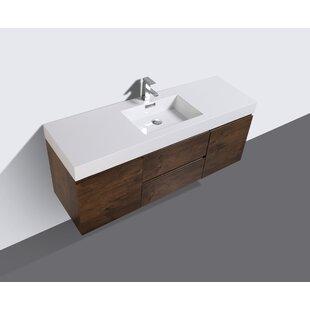 Sinope 59 inch  Wall-Mounted Single Bathroom Vanity Set