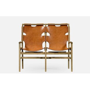 Architects House Leather Bench by Jonathan Charles Fine Furniture