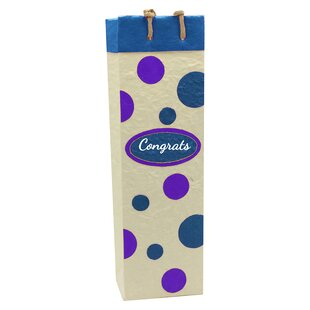 Handmade Congrats Single Wine Carrier by BellaVita New