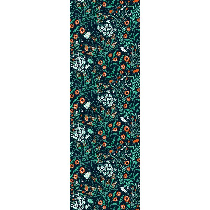 Terri Removable Summer Bloom And Beetle 4 17 L X 25 W Peel And Stick Wallpaper Roll