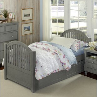 Read Reviews Javin Twin Panel Bed with Trundle ByHarriet Bee