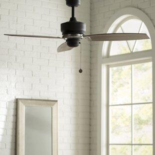 Industrial style ceiling fans youll love wayfair 54 brittani 3 blade ceiling fan aloadofball Choice Image