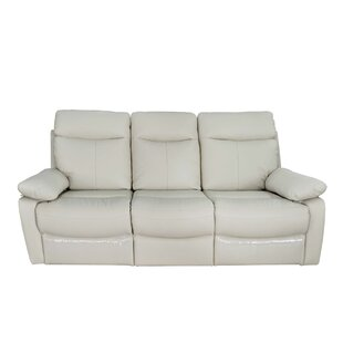 Moretz Genuine Leather Reclining Sofa
