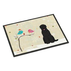 Christmas Presents Between Friends Russian Terrier Doormat