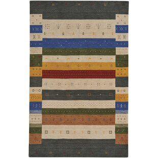 Gava Hand-Tufted Black/Beige Area Rug ByCapel Rugs