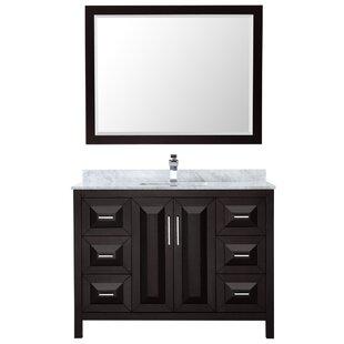 Daria 48 Single Bathroom Vanity Set with Mirror by Wyndham Collection