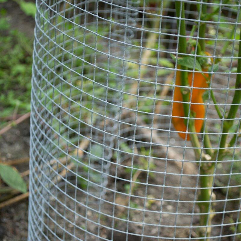 MTB Galvanized Welded Wire Mesh Garden Economy Fence 36 Inch x 50 Foot-1 Inch x 1 Inch 16GA