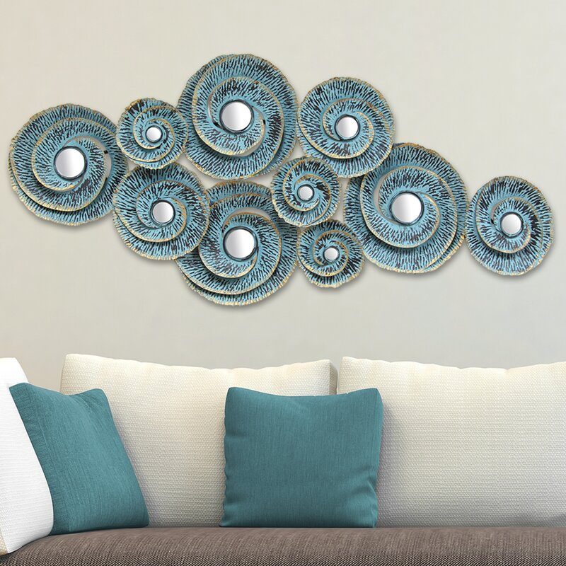 World Menagerie Decorative Waves Metal Wall Décor ...
