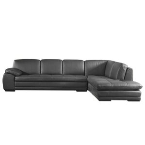 Stockbridge Leather Sectional  sc 1 st  AllModern : modern couch with chaise - Sectionals, Sofas & Couches