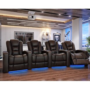 Home Theater Row Curved Seating (Row of 4) Latitude Run