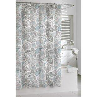 Paisley Cotton Single Shower Curtain