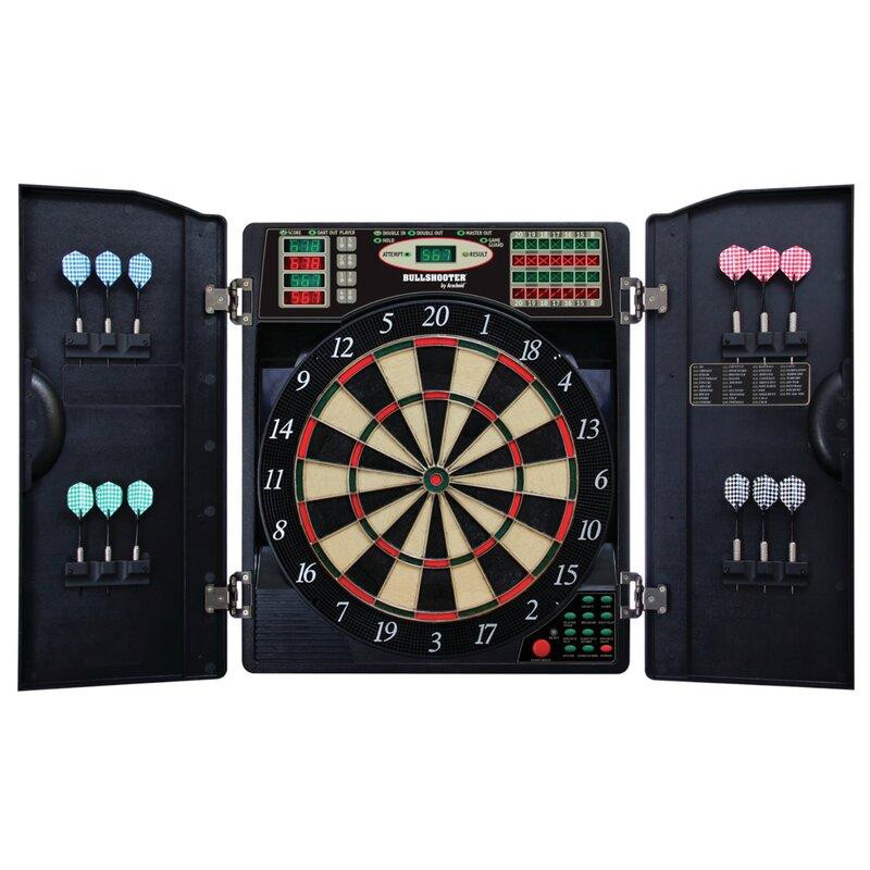Beau E Bristle 3 Piece 1000 LED Electronic Dartboard Cabinet Set