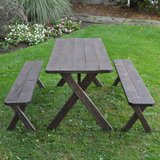 Spafford Solid Wood Picnic Table