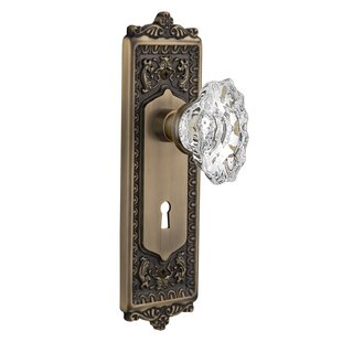 Chateau Privacy Door Knob with Egg and Dart Plate by Nostalgic Warehouse