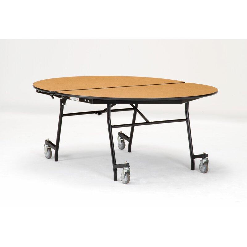 National Public Seating 72 Elliptical Cafeteria Table Wayfair