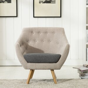 Westford Dual Tone Tufted Armchair by George..