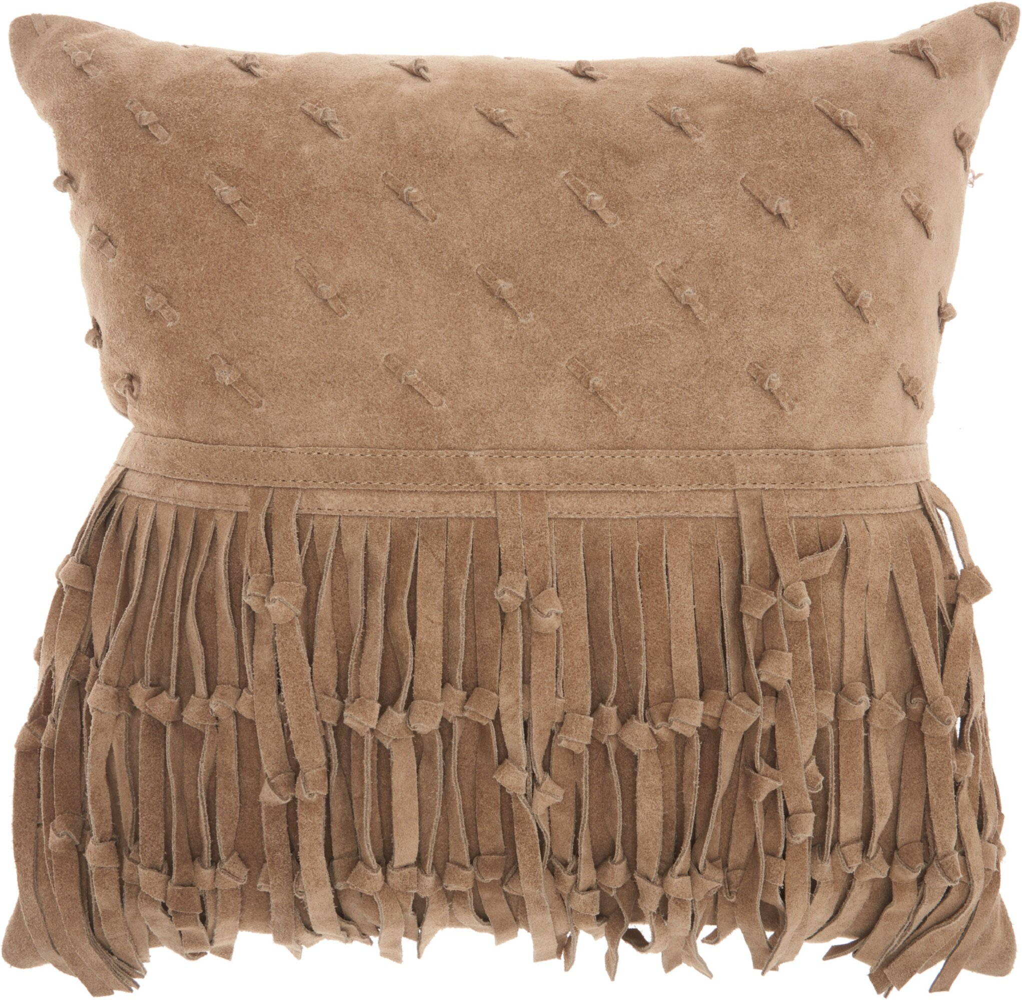 Foundry Select Dion Leather Throw Pillow Wayfair