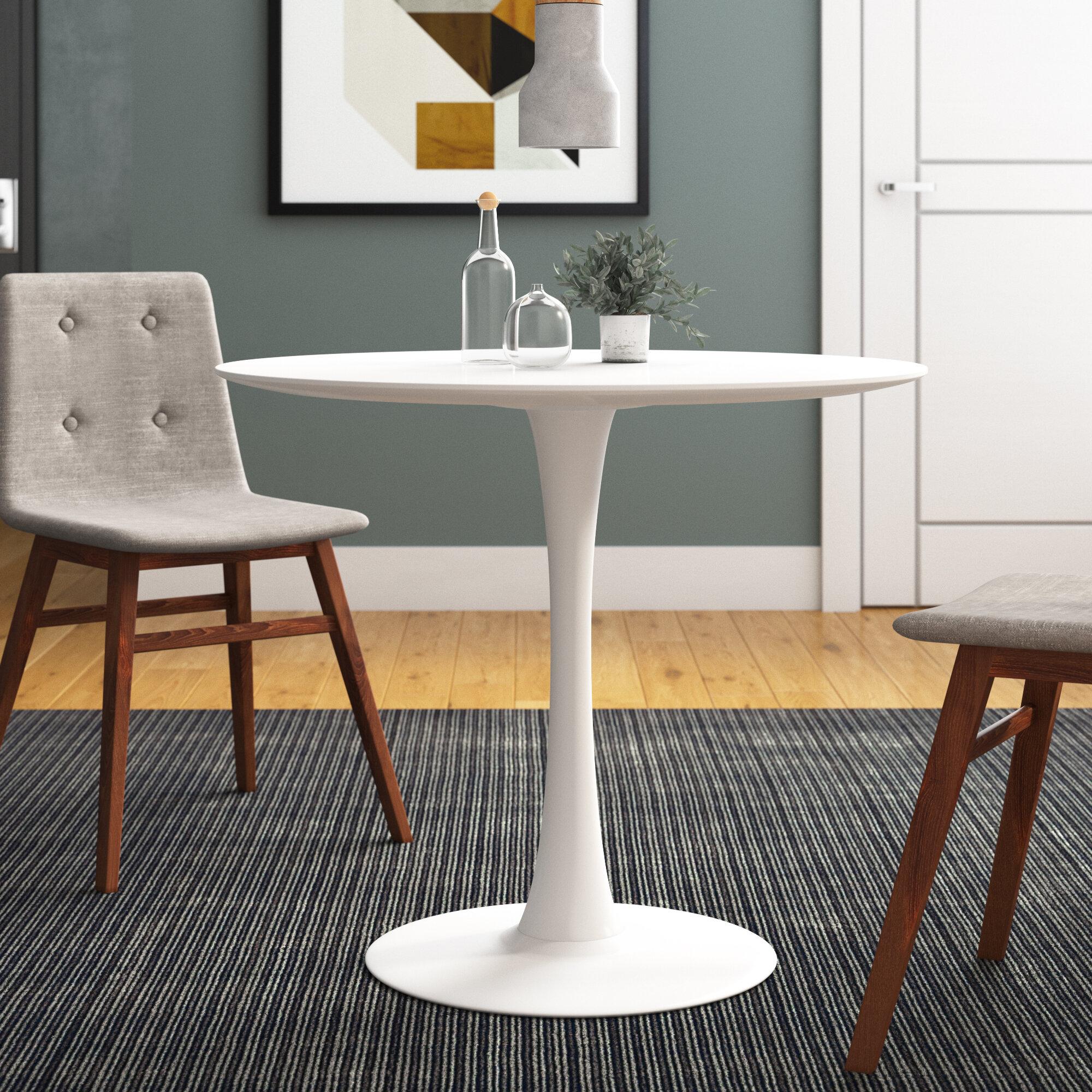 George Oliver Guillot 35 Pedestal Dining Table Reviews Wayfair