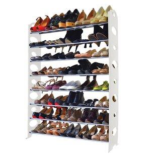 Price comparison 8-Tier 40 Pair Shoe Rack By Rebrilliant