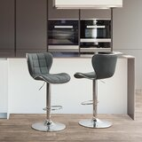 Launcest Adjustable Height Swivel Bar Stool (Set of 2) by Orren Ellis