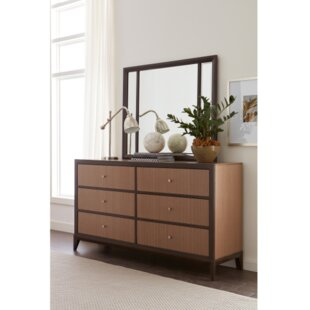 Coletta 6 Drawer Double Dresser with Mirror